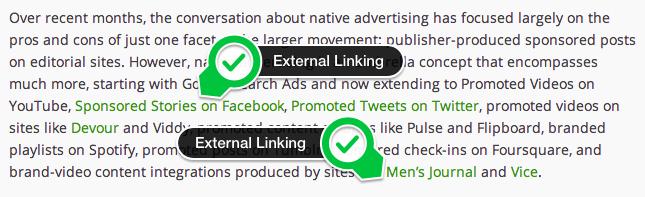 External Linking Example