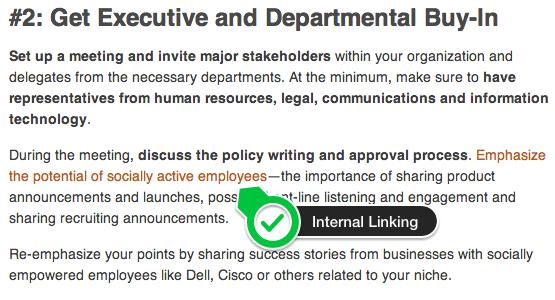 Internal Linking Example