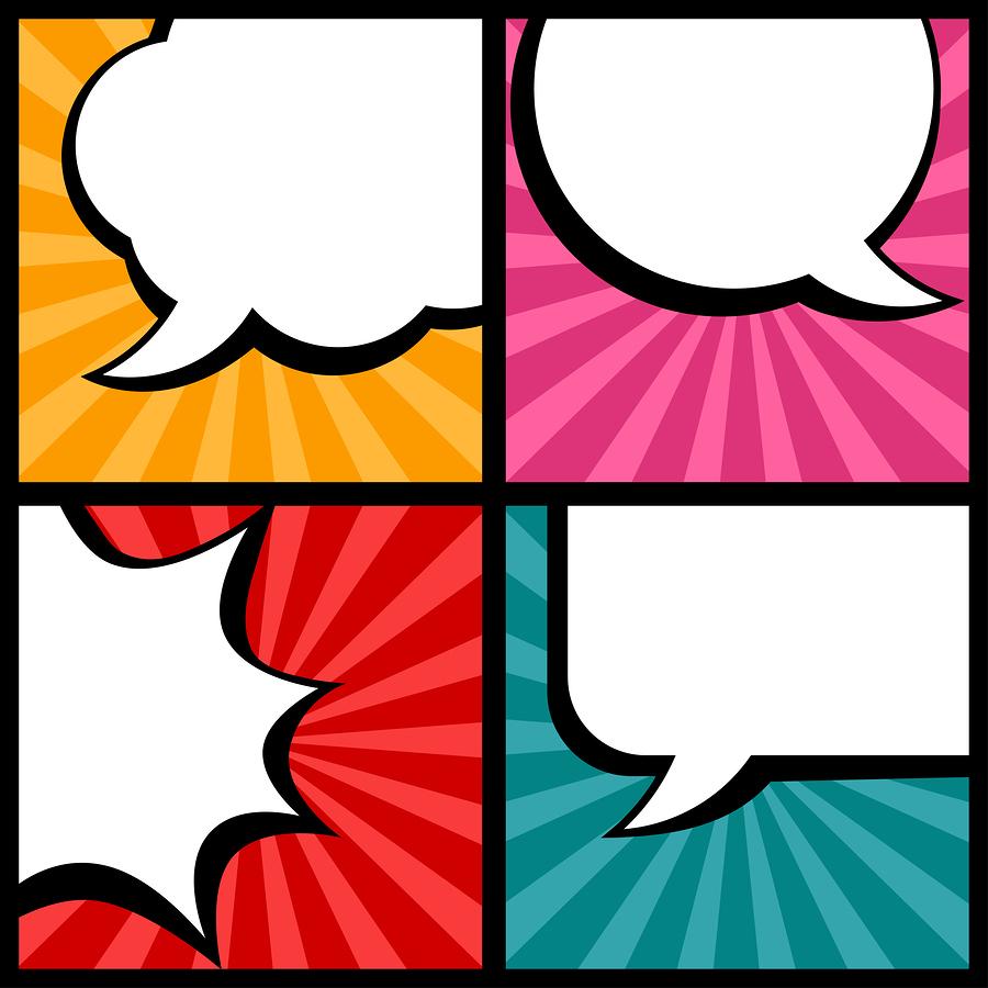 Talk bubbles for audience persona development