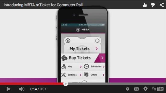MBTA mTicket app