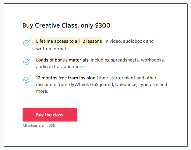 CreativeClass by Paul Jarvis