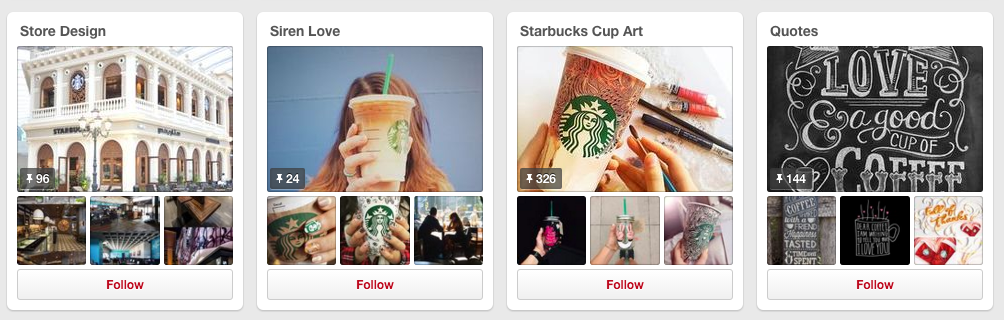 Store Design and Starbucks Cup Art boards