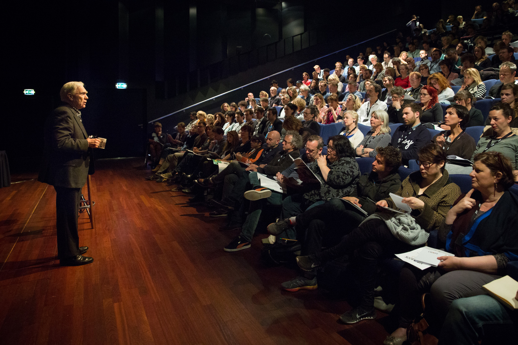 Robert McKee Lecturing in Amsterdam