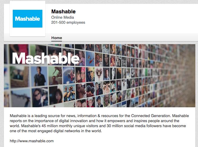 Mashable on LinkedIn