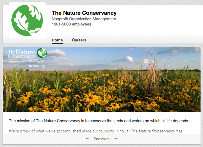 The Nature Convservancy on LinkedIn