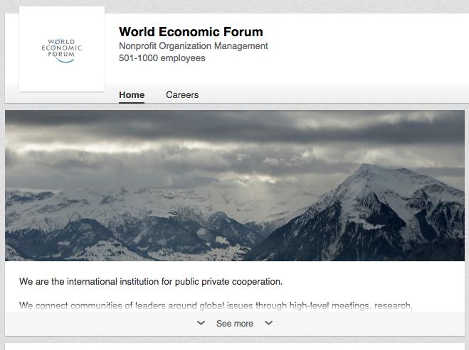 World Economic Forum on LinkedIn