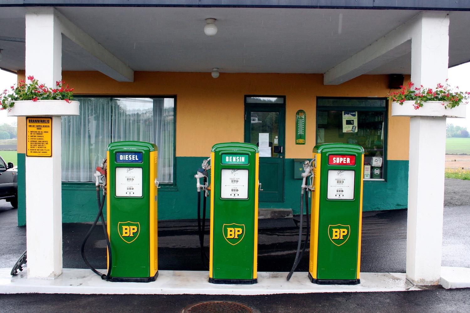 BP gas station in Norway