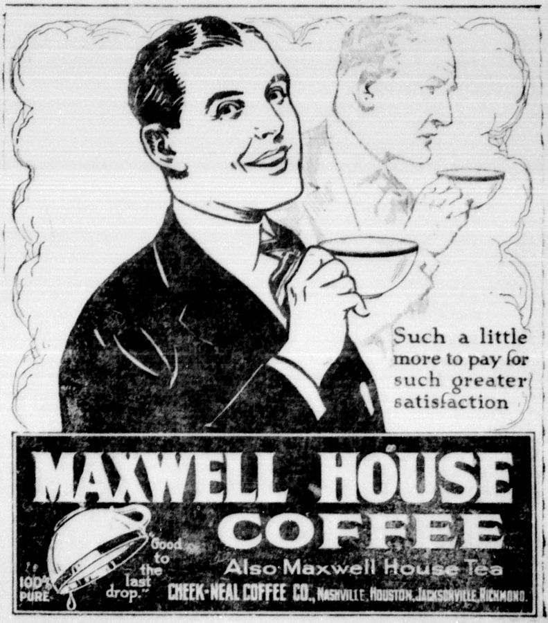 newspaper ad from 1921
