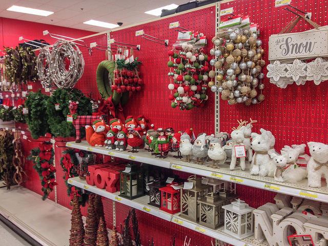 Target store at Christmas