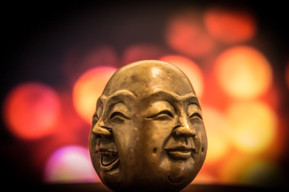 The two faces of Buddha
