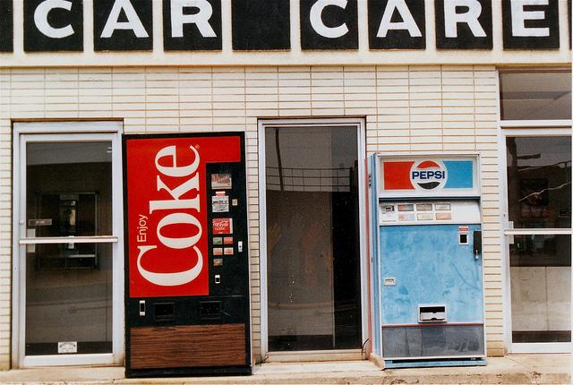 Coke and Pepsi machines