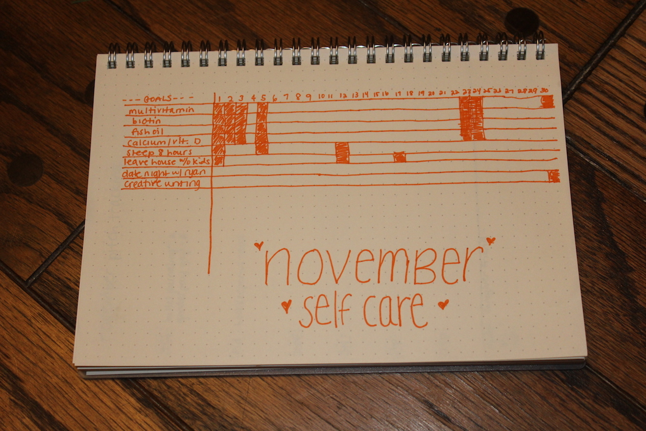 bullet journal erin ollila experiment self care