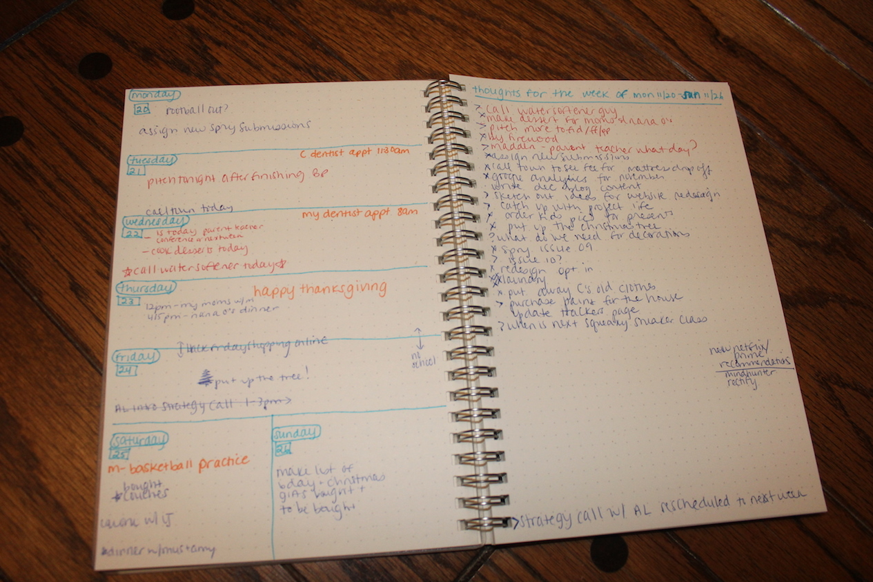 bullet journal erin ollila experiment weekly