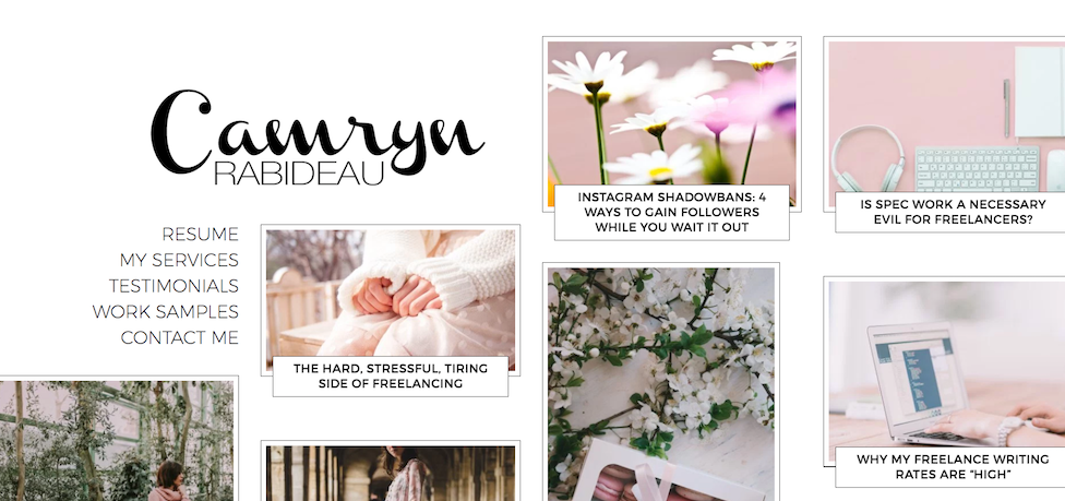 camryn rabideau's homepage