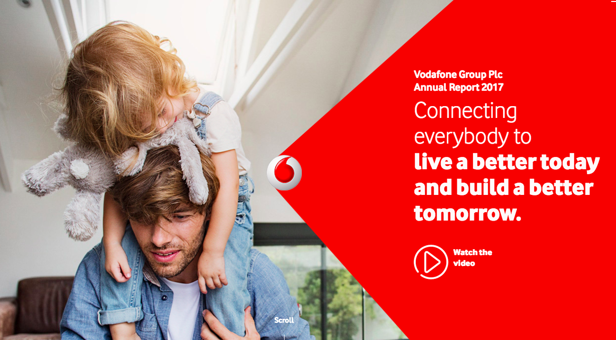 digital content annual report Vodafone