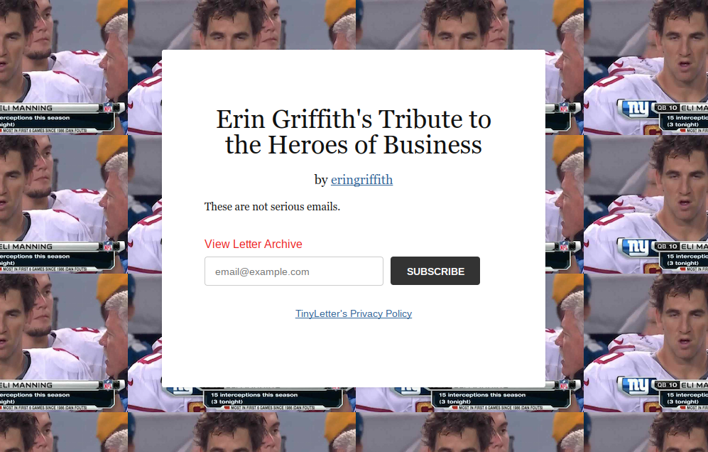 Tribute to the Heroes of Business