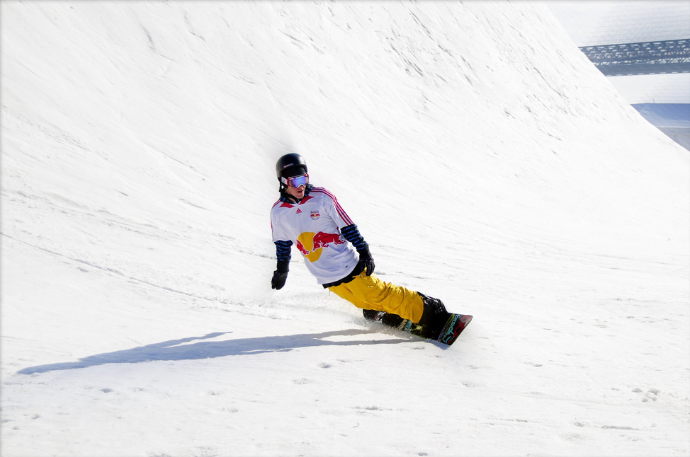 Red Bull snowboarder