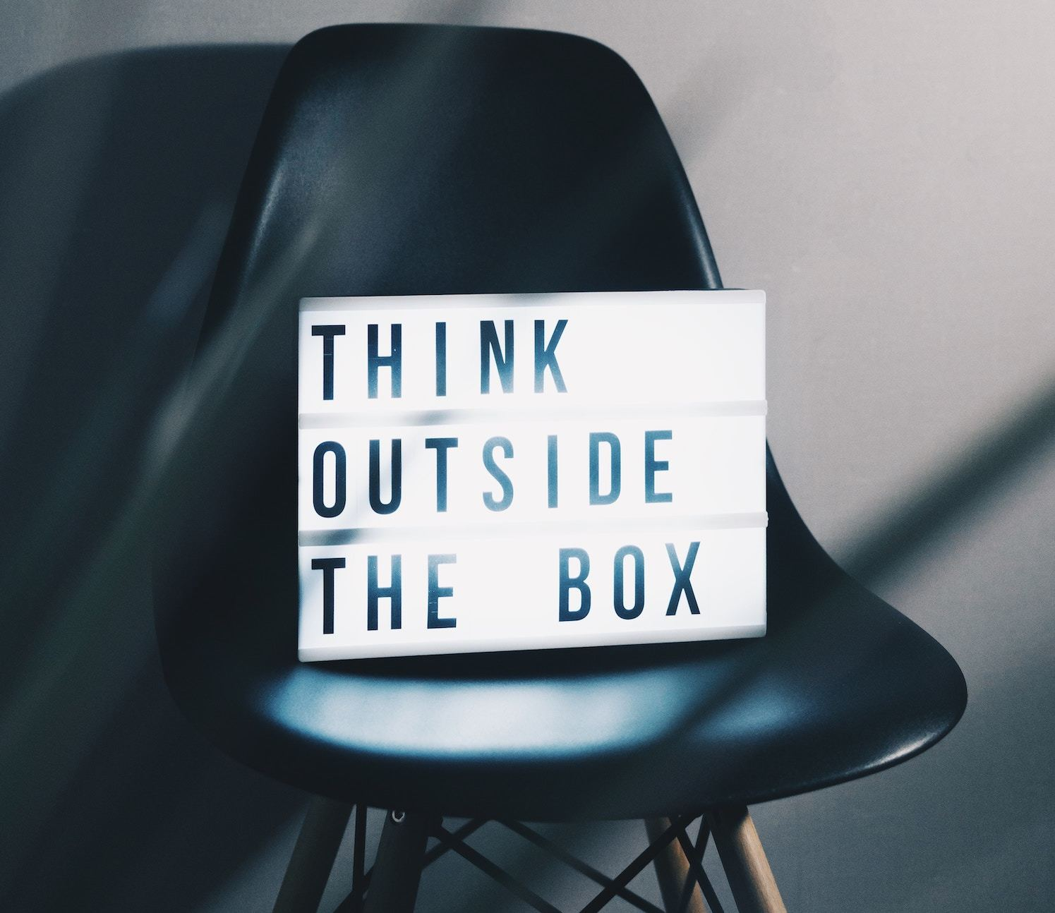 Light box with message