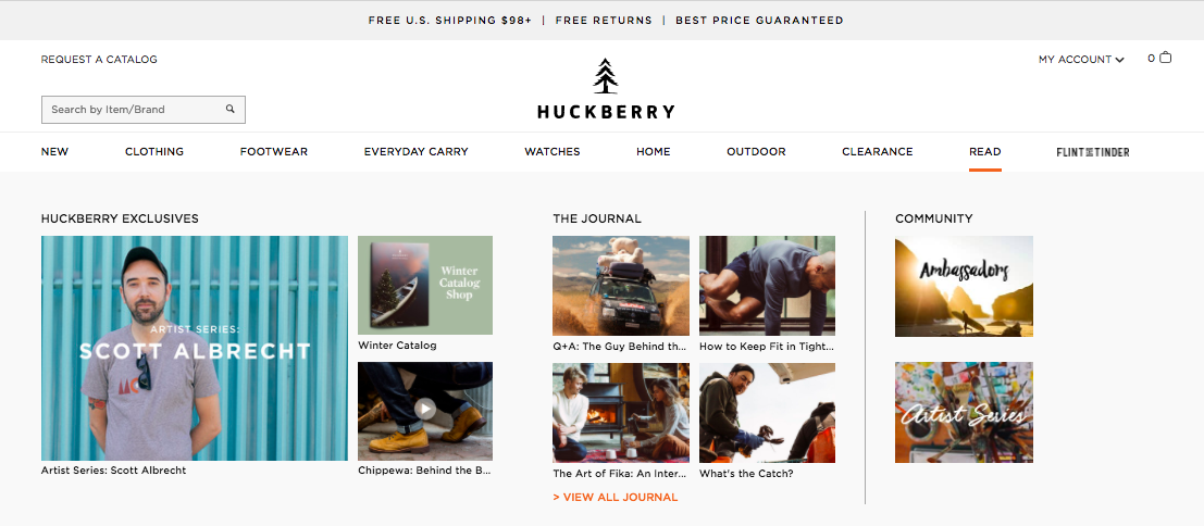 Huckberry Journal