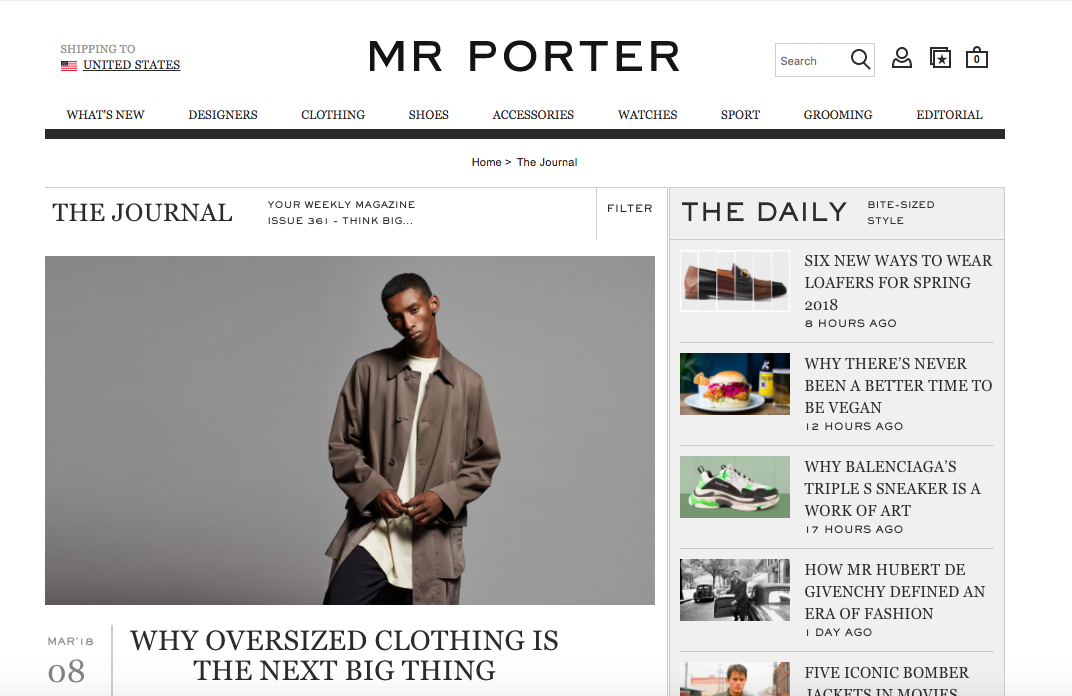 Mr Porter The Journal