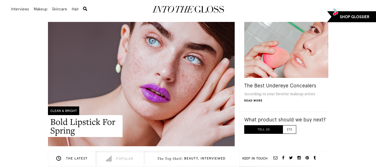 Into the Gloss Website