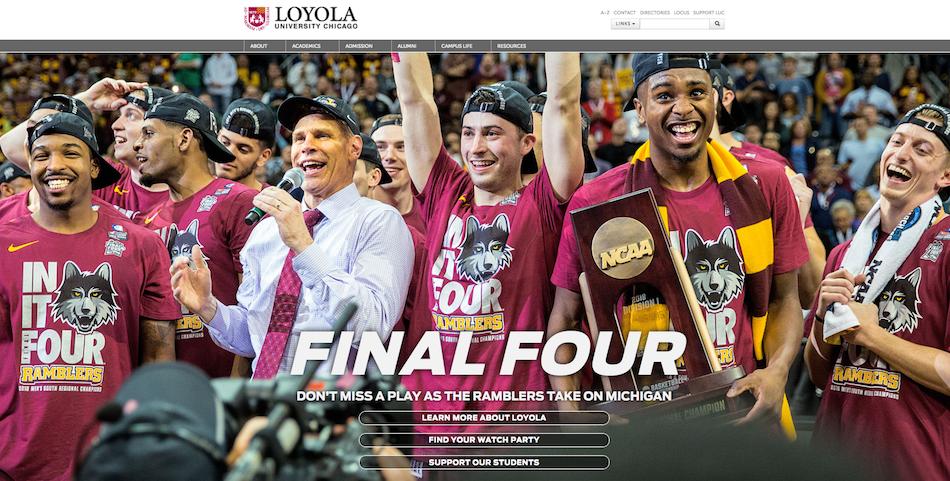 Loyola University homepage