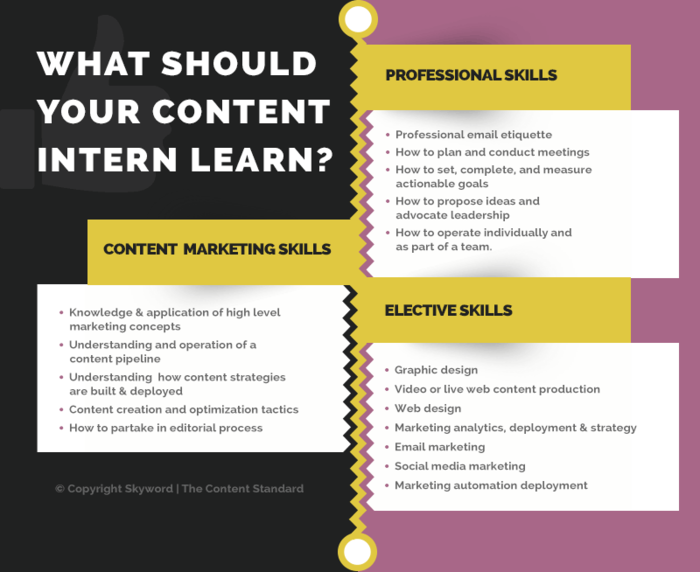 What should your content intern learn?