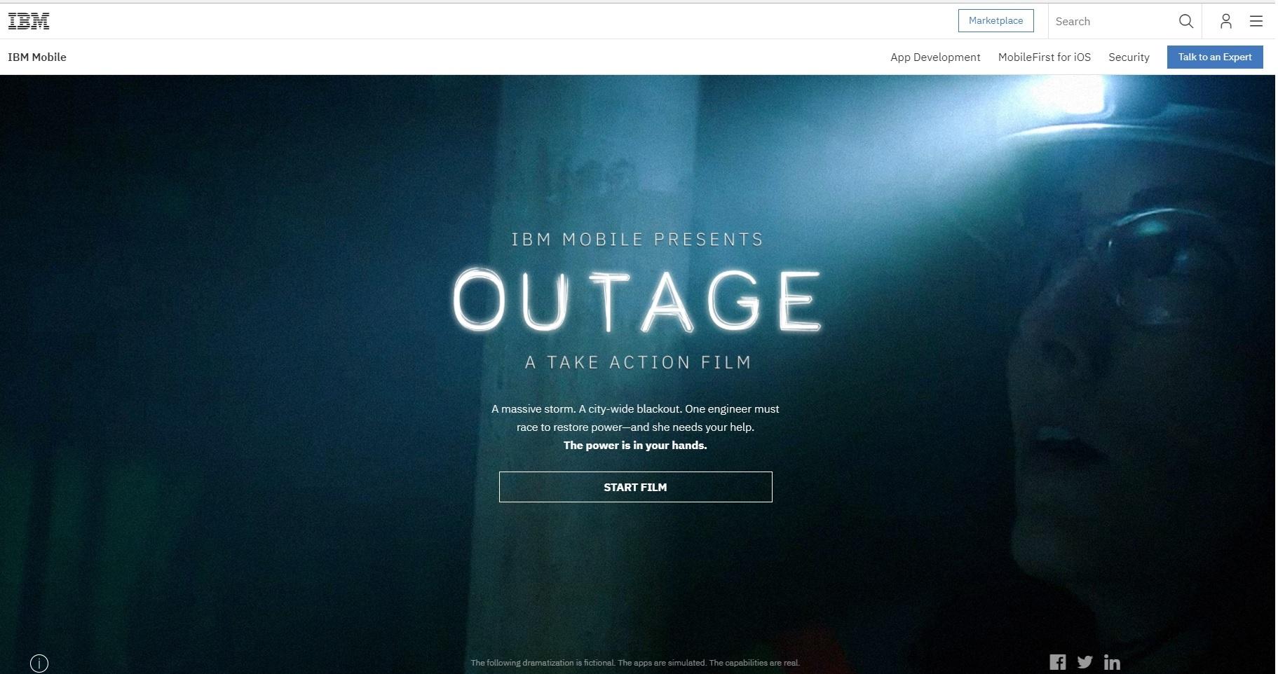 IBM OUTAGE film home