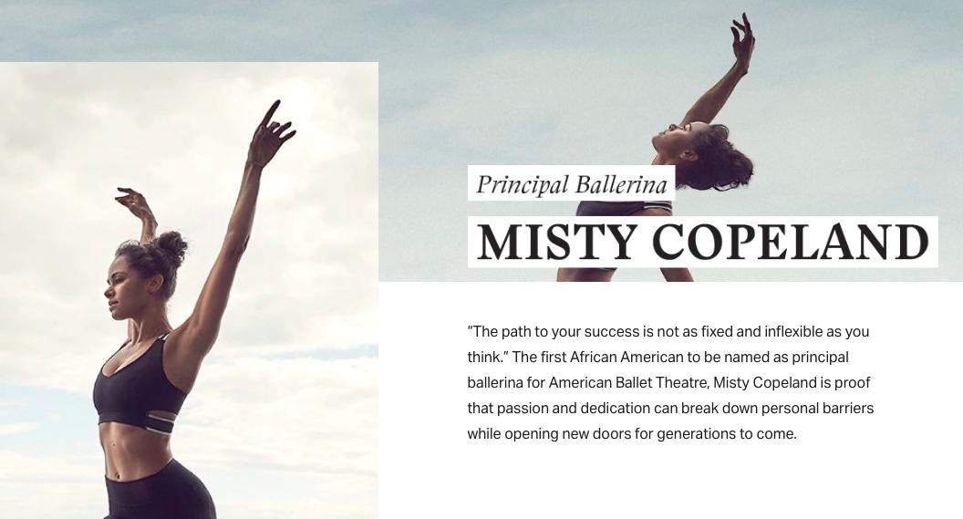 Misty Copeland underdog marketing