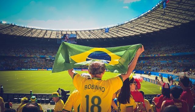Brazil fan at World Cup