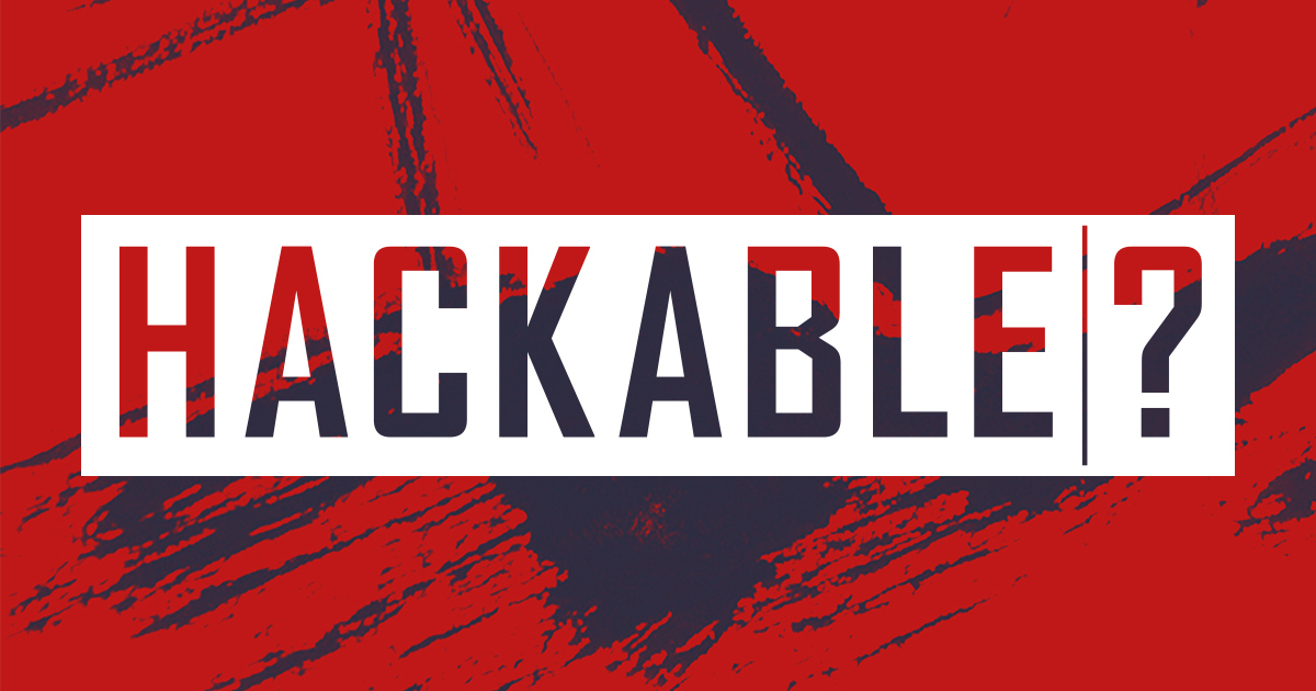 Red and Blue Hackable logo
