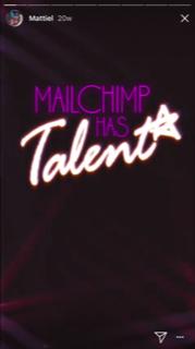 MailChimp Instagram Story