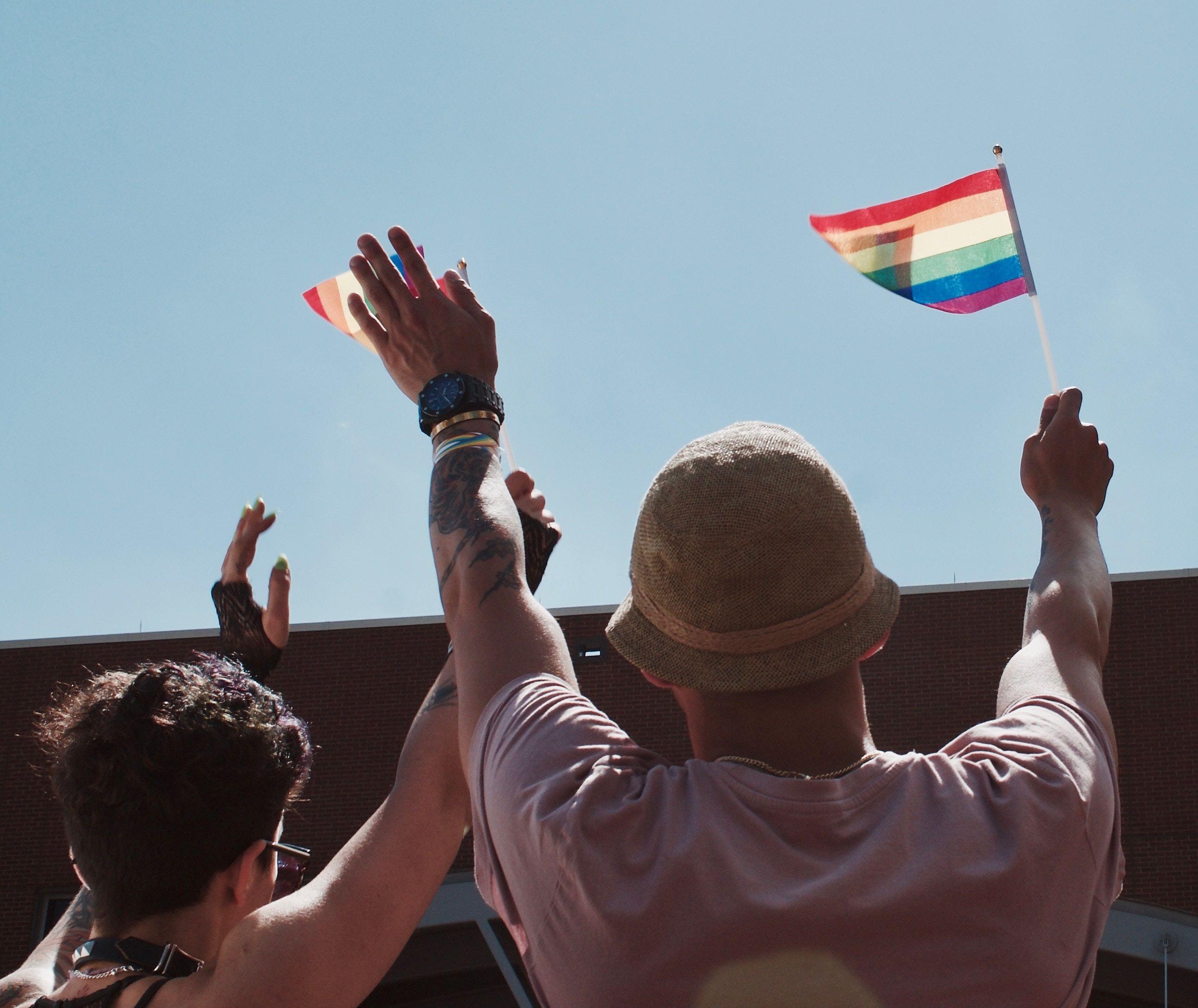 pride flag display