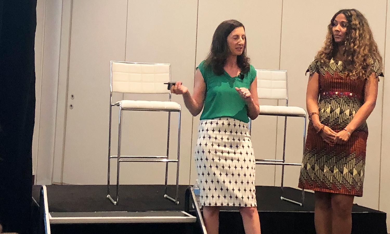Sarah Nunes and Leona Frank of Vistaprint present during Forward 2018