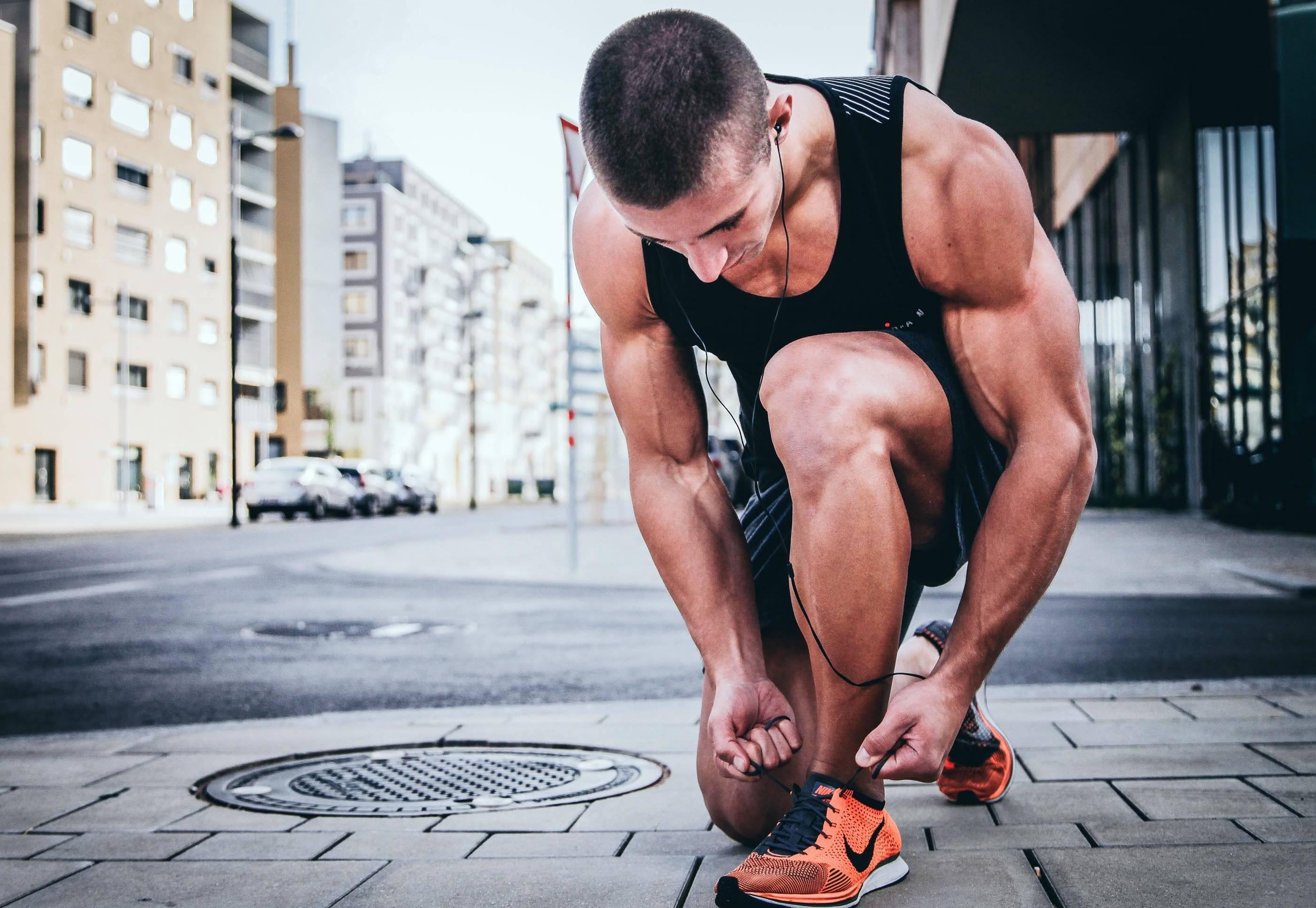 runner lacing shoe