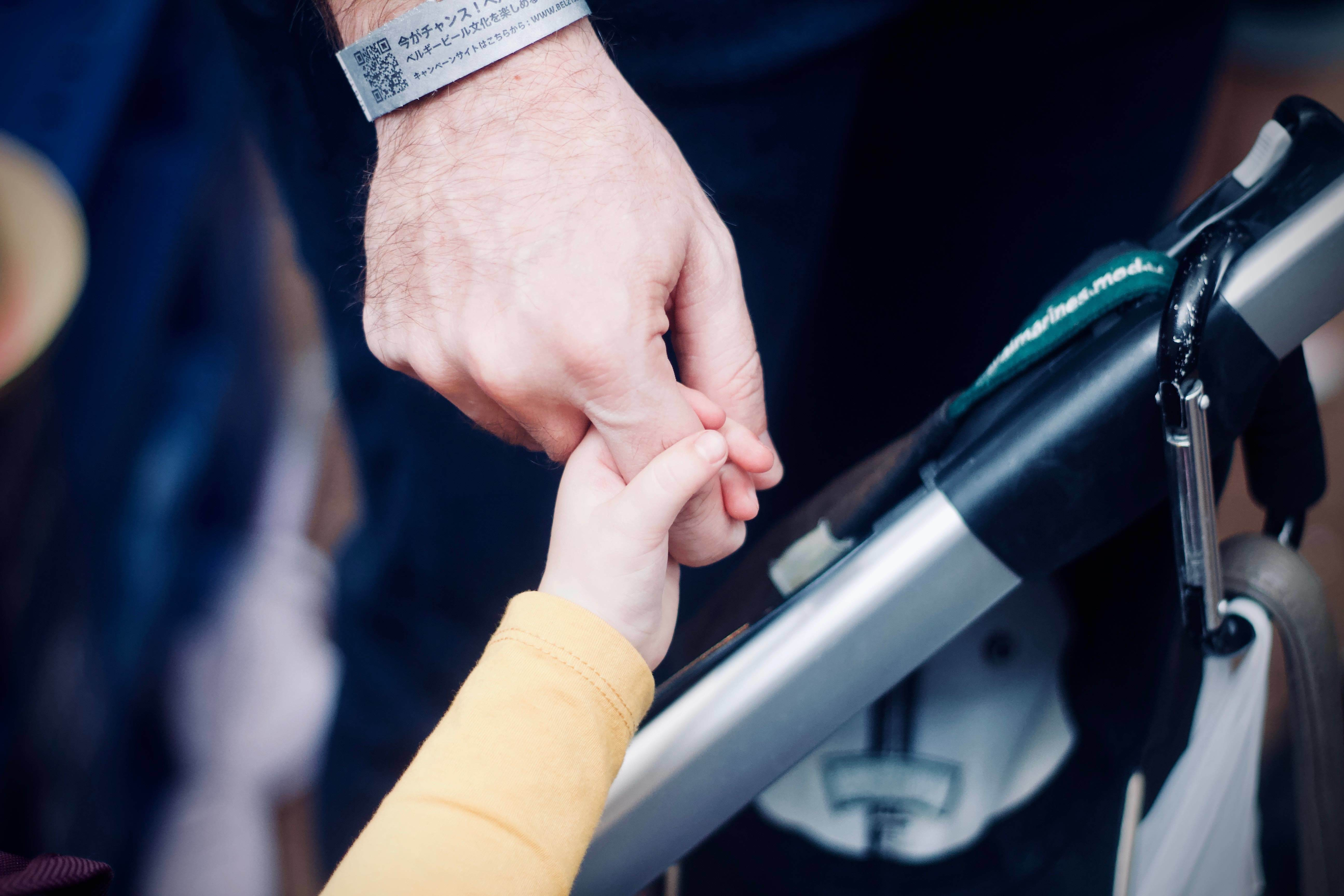 kid and parent hands
