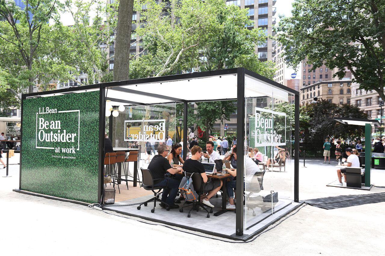 pop-up outdoor co-working space