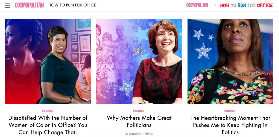 cosmopolitans political content hub