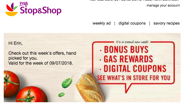 stop and shop marketing newsletter