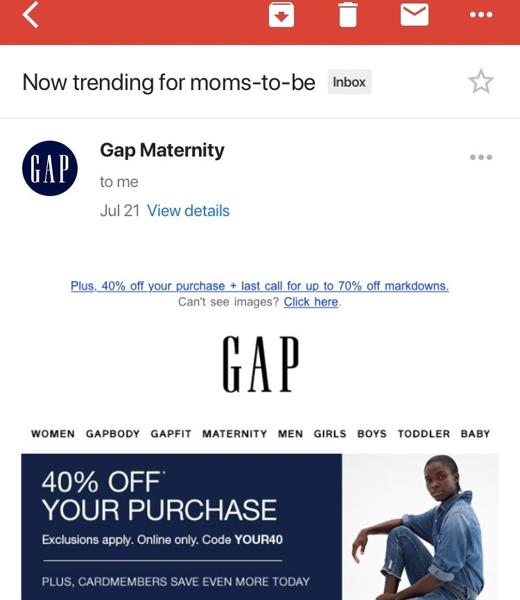 gap email personalization