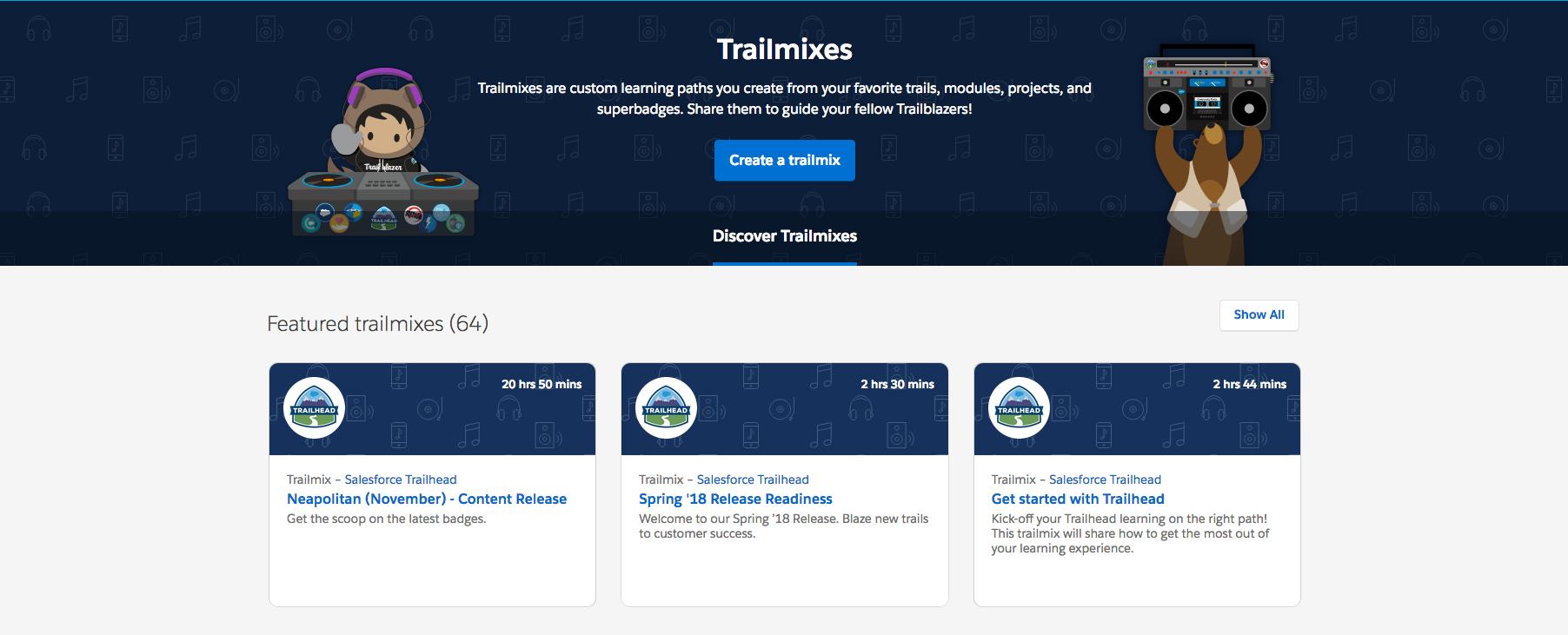 Salesforce Trailmixes