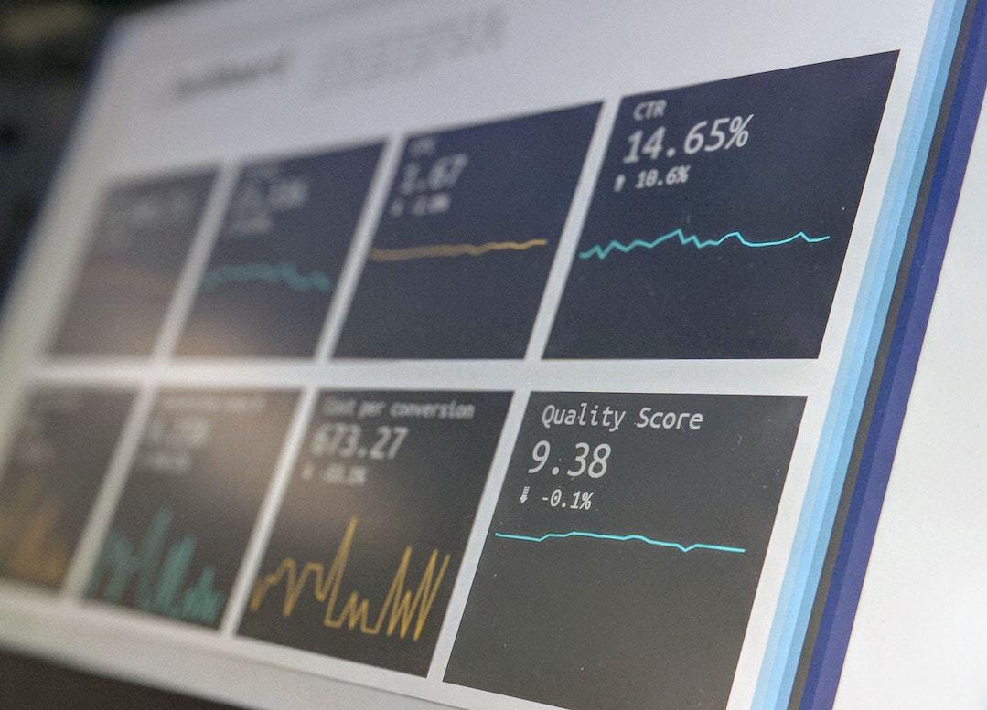 A web metrics dashboard