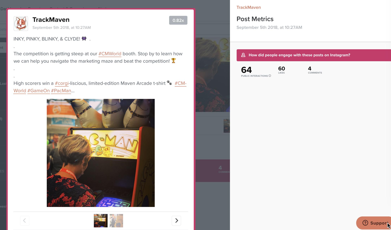 track maven instagram benchmarking