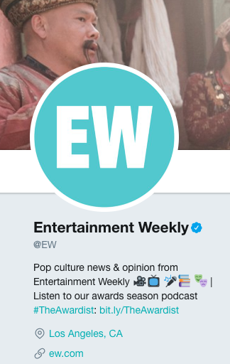 entertainment weekly twitter