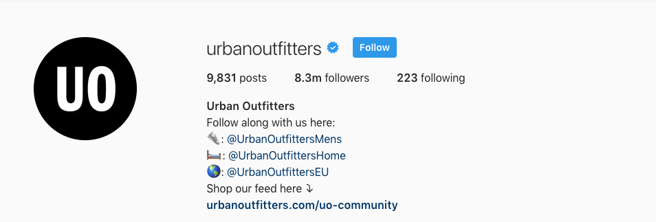 urban outfitters instagram strategy