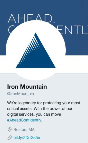 iron mountain twitter bio