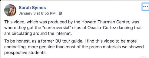 boston university facebook post