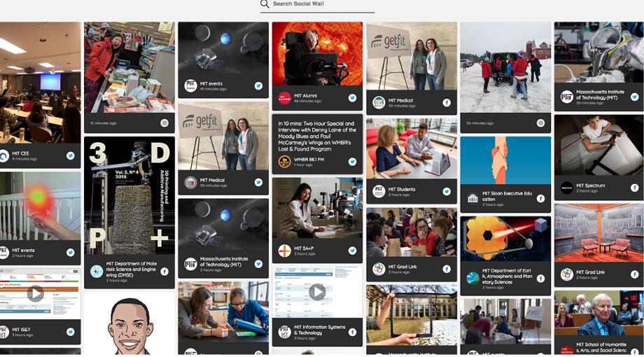 MIT social media hub