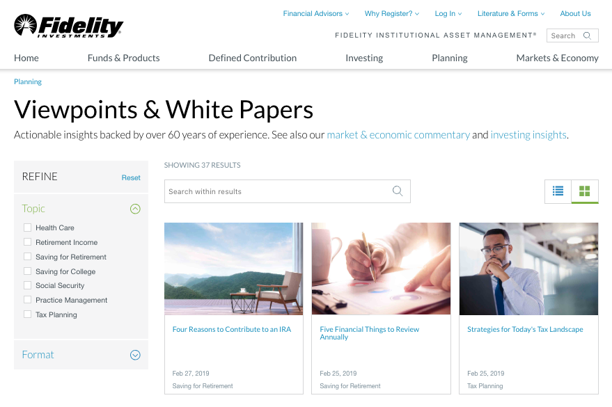 fidelity financial services ebooks