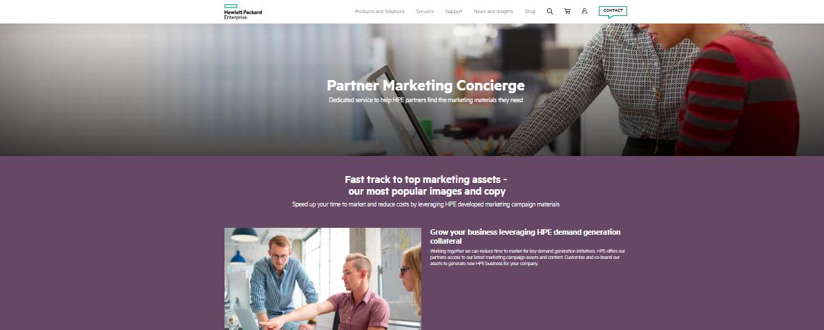 Hewlett Packard Partner Marketing Concierge